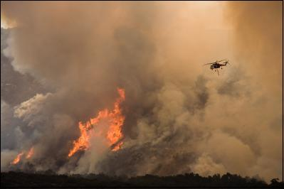 Harris Wildfire in Southern California