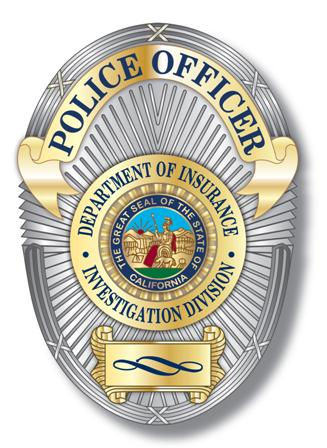 Investigation Division Police Officer Badge