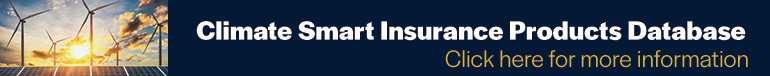 climate smart insurance products database