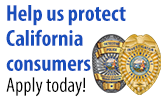 Help us protect California consumers