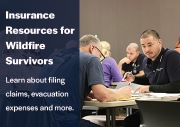 Insurance resources for wildfire survivors