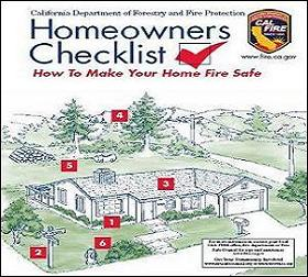Cal Fire Homeowners Checklist