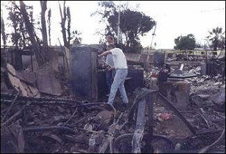 Homeowners returning to a destroyed property